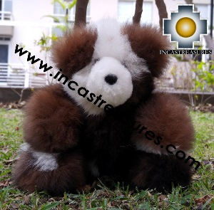 Alpaca Stuffed Teddy Bear Seated BOMBI - 100% Baby Alpaca