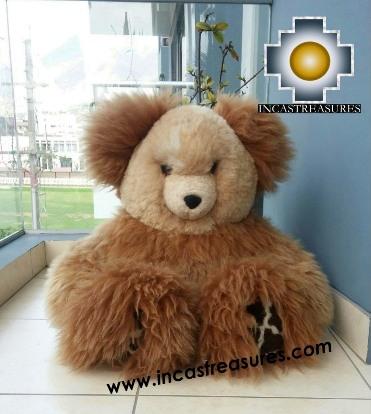 Alpaca Stuffed Teddy Bear Giant Okoshi - 100% Baby Alpaca photo 04