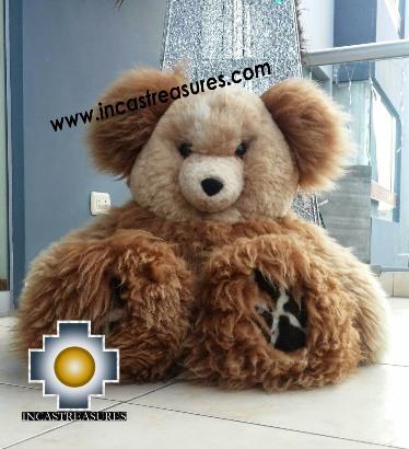 Alpaca Stuffed Teddy Bear Giant Okoshi - 100% Baby Alpaca , photo 03