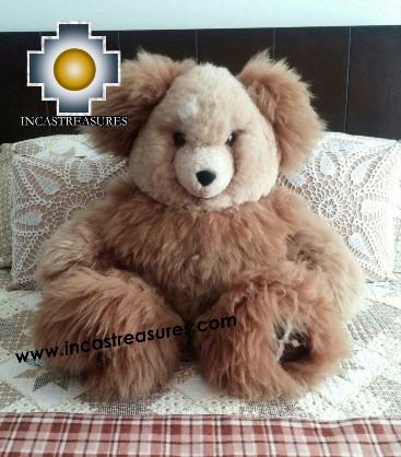 Alpaca Stuffed Teddy Bear Giant Okoshi - 100% Baby Alpaca , photo 01