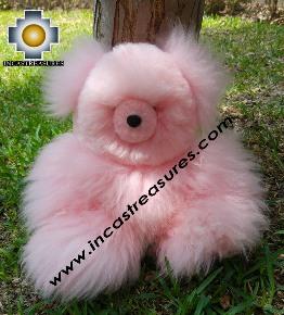 Alpaca Stuffed animal Pinky - 100% Baby Alpaca