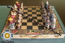 Big wooden classic Chess Set - 100% handmade - Product id: toys08-64chess, photo 05