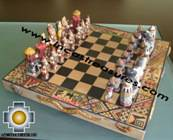 Big wooden classic Chess Set - 100% handmade - Product id: toys08-64chess, photo 04