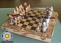 Big wooden classic Chess Set - 100% handmade - Product id: toys08-64chess, photo 03