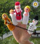 Hand-Knit finger puppet  christmas Special- Product id: TOYS08-42, photo 02