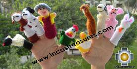 Hand-Knit finger puppet  farm Special- Product id: TOYS08-44, photo 02