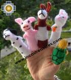Wholesale The Tortoise and the Hare Special , Hand-Knit Finger Puppets - Cotton wool