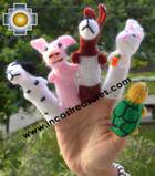 The Tortoise and the Hare Special , hand-knit finger puppets