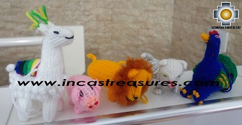 Special Hand-knit Stuffed puppets - can be used at the Christmas Tree, as a keyring, etc