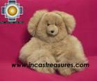 Baby Alpaca Big and Soft Brown Teddy Bear - BROWNIE photo 04