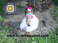 alpaca llamas happy with chullo, stuffed animals