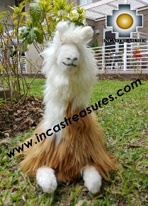 alpaca stuffed animal peluca , photo 02