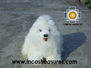 alpaca stuffed animal - Happy white wolf TITANIO Photo03