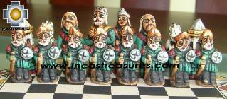 Big wooden royal Chess Set - 100% handmade - Product id: toys08-67chess, photo 09