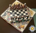 Big wooden royal Chess Set - 100% handmade - Product id: toys08-67chess, photo 06