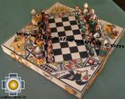 Big wooden royal Chess Set - 100% handmade - Product id: toys08-67chess, photo 04