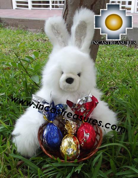 Alpaca stuffed easter bunny chocolate eggs - 100% Baby Alpaca - Product id: TOYS12-06