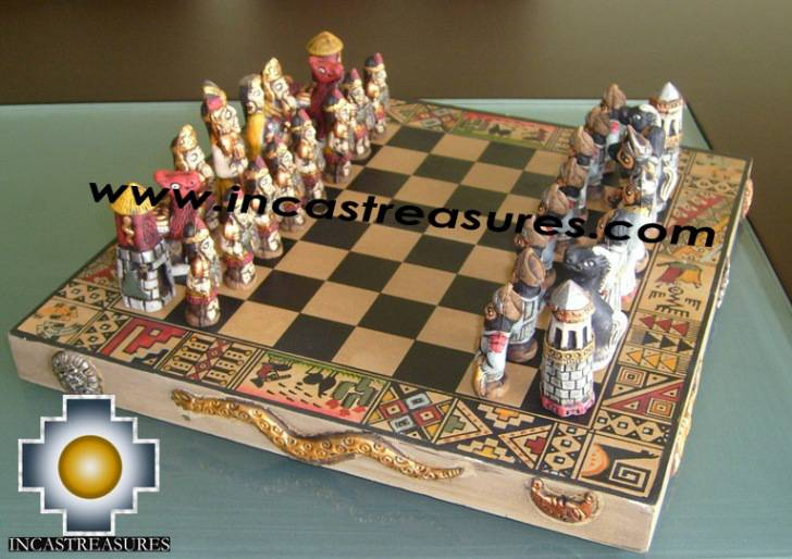 Big wooden classic Chess Set - 100% handmade - Product id: toys08-64chess