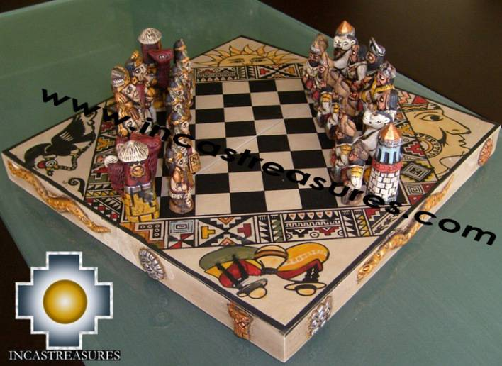 Big wooden royal Chess Set - 100% handmade - Product id: toys08-65chess