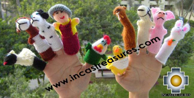 Hand-Knit finger puppet  farm Special- Product id: TOYS08-44