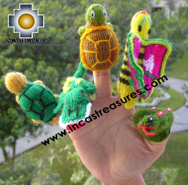 Finger Puppets Jungle Special Hand Knit Finger Puppets Free Shipping