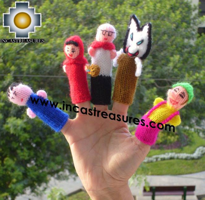 Hand-Knit finger puppet  red-riding-hood Special- Product id: TOYS08-46