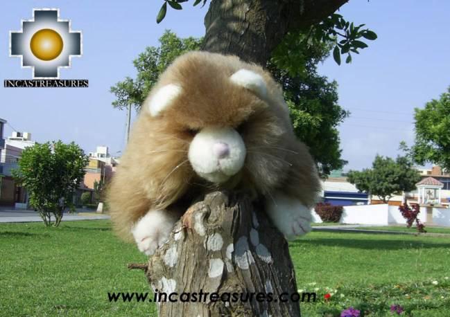 """Cute Little Beige cat """"PUNO"""" alpaca stuffed animal"""