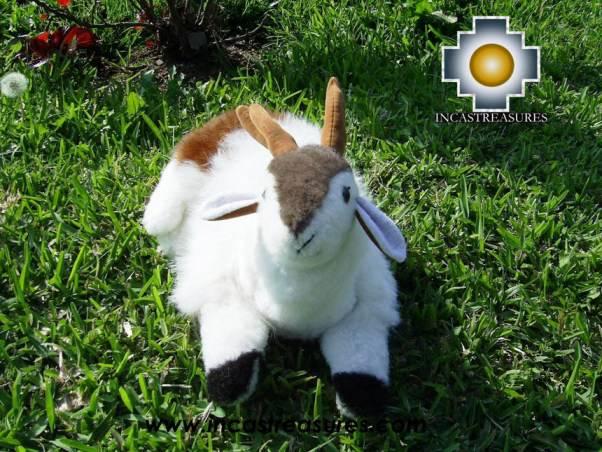 "baby alpaca stuffed animal Lovely white Deer ""Ping"""
