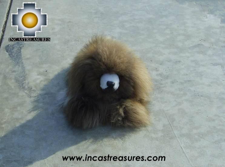 alpaca stuffed animal, Happy little brown dog -KUKIN
