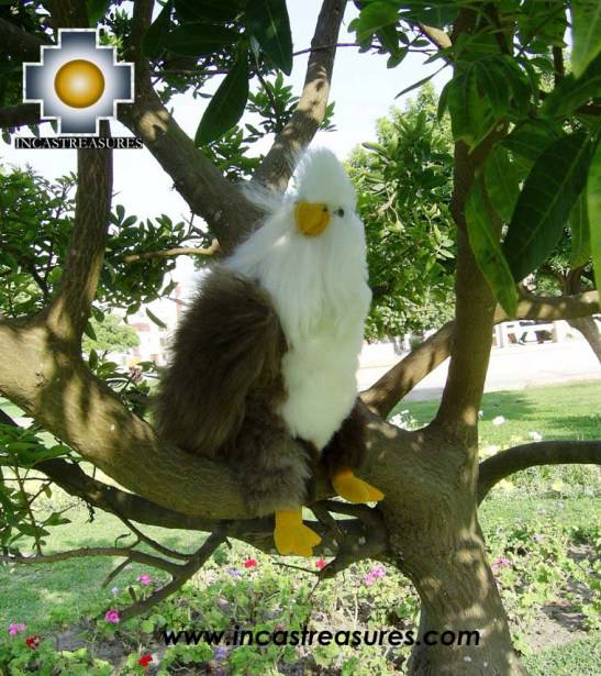"baby alpaca stuffed animal Beautiful Bald Eagle ""YUKEN"""