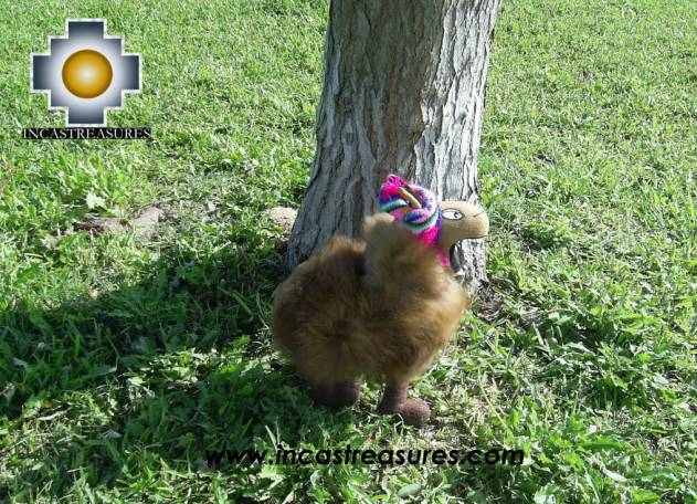 Happy brown llama - PONCHO - big