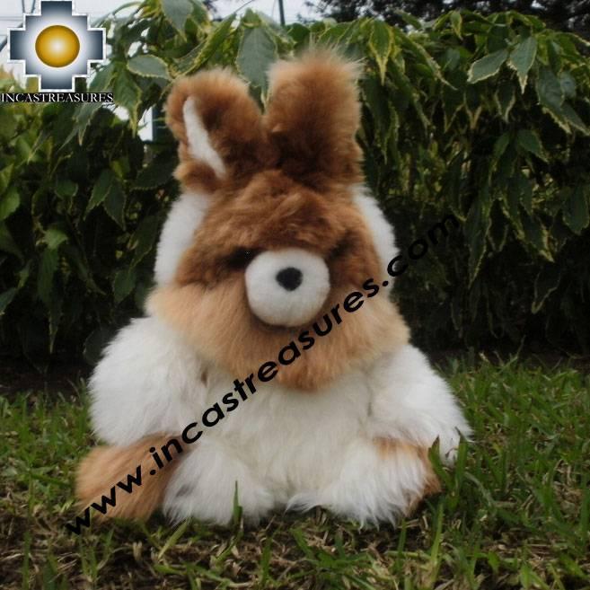 "Cute White Rabbit ""SPOUNGE"" baby alpaca stuffed animal"