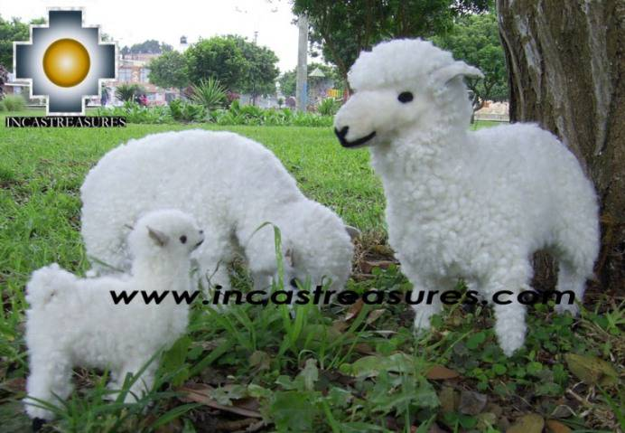 Alpaca Stuffed Animals Sheep Family - Product id: TOYS08-39
