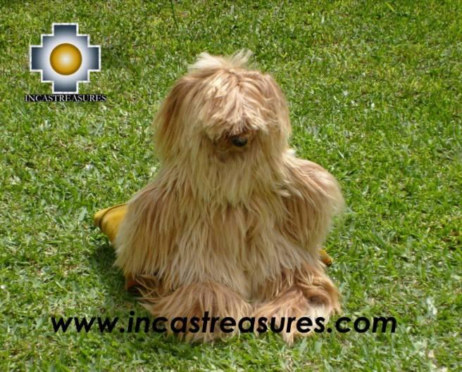 Golden long hair of suri alpaca, Mechas