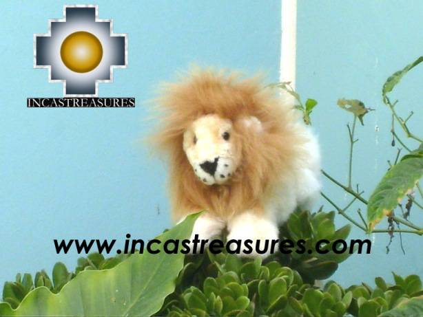 Baby alpaca king lion George